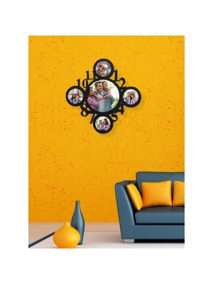 Indian Aura Personalized Photo Hanging Wall Décor Clock Picture Frame
