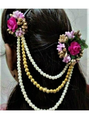 Indian Aura Flower jewelry yellow hair clip