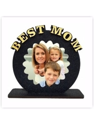 Personalized BEST MOM table top  size 6*6inches