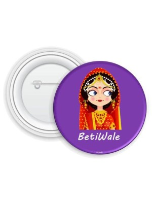 Indian Aura purple betiwale badges