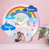 Indian Aura personalized kids wall clock 11 inch size MDF material