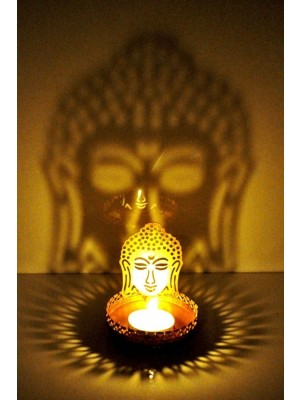 Budha Image Reflector Tea Light