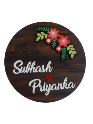 Indian Aura customized Name Plate, Size: 12*12