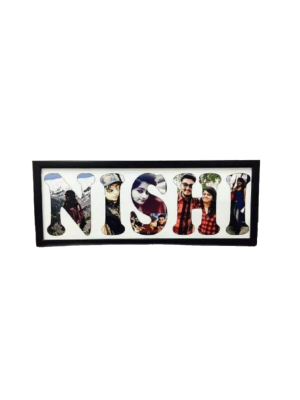 Indian Aura Wooden Frame With Customized Name, Size:12*16 inches