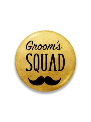 Indian Aura Golden Groom's Squad badges