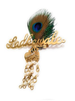 Indian Aura ladkewale morepankh brooches