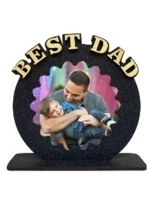 Personalized BEST DAD table top  size 6*6inches