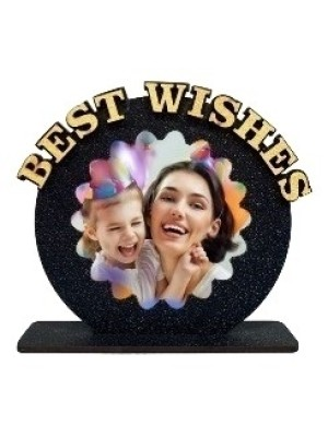 Personalized BEST WISHES Table top  size 6*6 inches