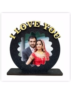 Personalized I LOVE YOU table top  size 6*6 inches