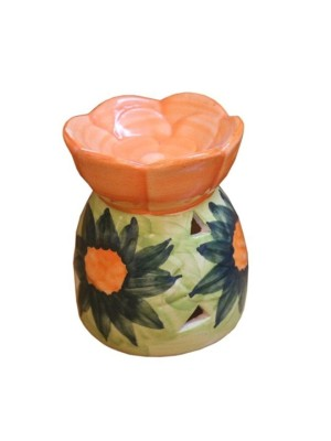 PINEAPPLE CERAMIC AROMA OIL BURNER FLOWER SHAPE(10.5cm)