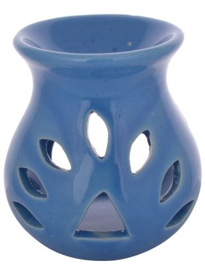 T LIGHT CERAMIC  AROMA LAMP OIL BURNER(BLUE)