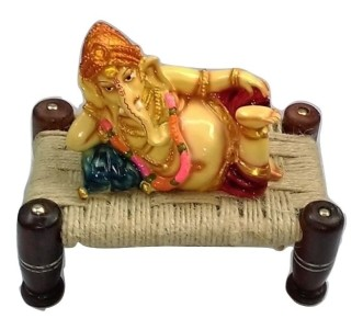 GANESHA SLEEPING ON KHAT SHOWPIECE