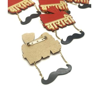Indian Aura barati moustaches brooches