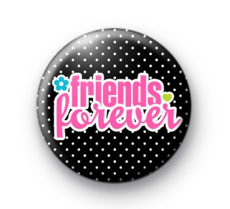 Indian Aura black and pink friends forever Badge