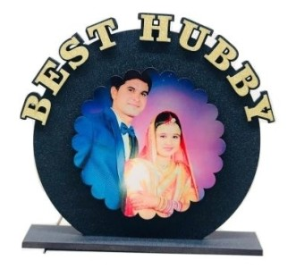 Personalized BEST HUBBY Table top  size 6*6 inches