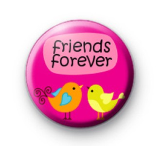 Indian Aura Pink Forever Friends Badge